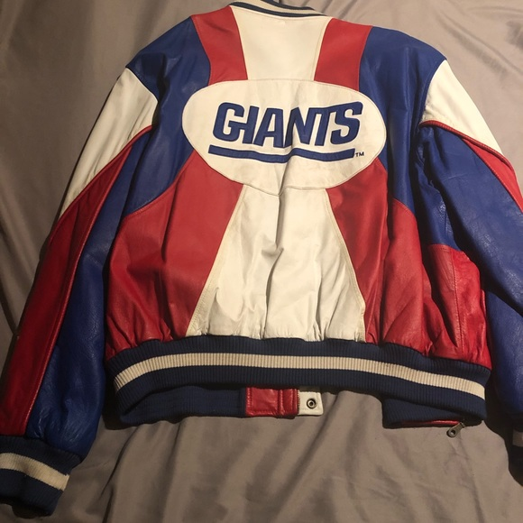 more photos d1326 18b66 Vintage Carl Banks NY Giants Leather Jacket 2X